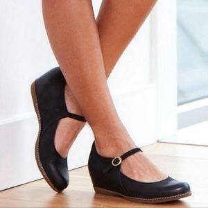 DANSKO Leather Mary Jane Wedge Heel, Sz 37